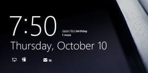 windows 8 lock screen birthday