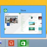 Windows store app showing on the taskbar
