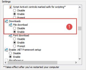 File Download: Enable FIX: Your current security settings do not allow this file to be downloaded security