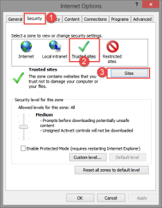 Internet Explorer : Security Settings