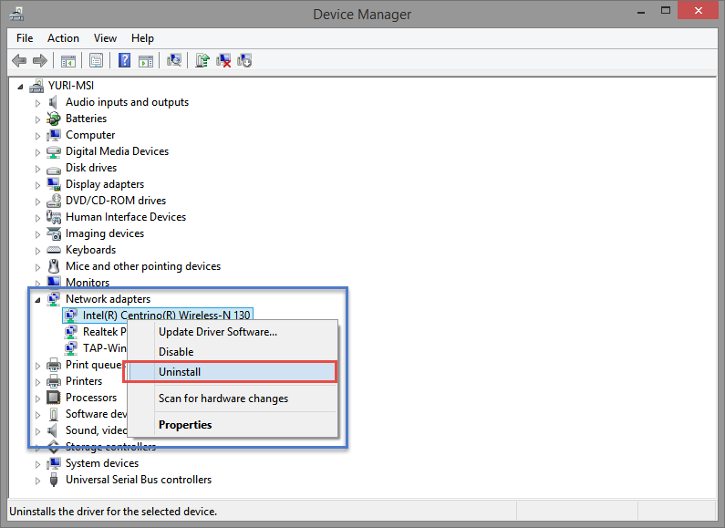 Wireless Network Connection Doesn T Have A Valid Ip Configuration >> Device Manager Remove Devices Windowsinstructed