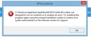 SPVCLdr64.dll Error