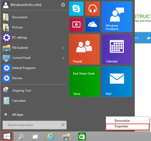 Windows 10 Start Menu Properties How-to change the Pinned Apps in Start Menu in Windows 10 pinned apps