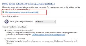 Windows 10 Power Options: Change Options