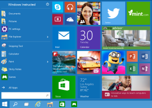 Windows 10 Start Windows 10: What is new? windows