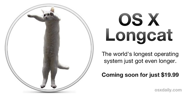 The new OSX name Weekly Comic: The new OSX Longcat Weekly Comic: The new OSX Longcat