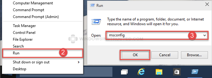 Run MSConfig Windows Update Troubleshooting Guide windows update