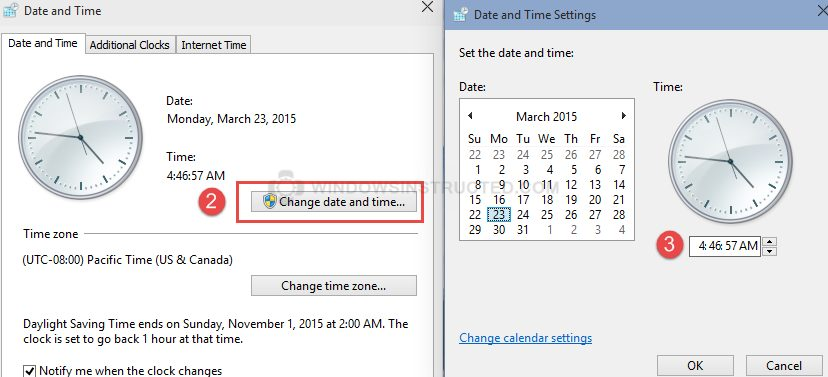 Change Date and Time