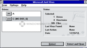 Windows 3.1 Anti-Virus