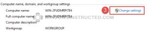 Windows 10: Workgroup Change Settings