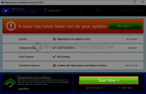 MalwareBytes: Scan Now