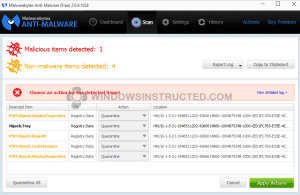 Malware Infected, Example