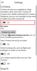 Turn off Cortana