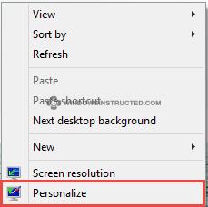 Windows 10: Personalize