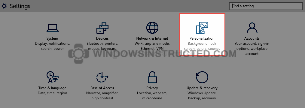 Settings: Personalization How to Change the Background of Lockscreen in Windows 10 background of lockscreen
