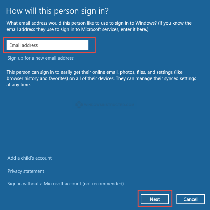 Windows 10: Microsoft Account