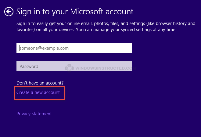 Sign in to your Microsoft Account How-to Create a Local Account during Windows 10 Installation local account