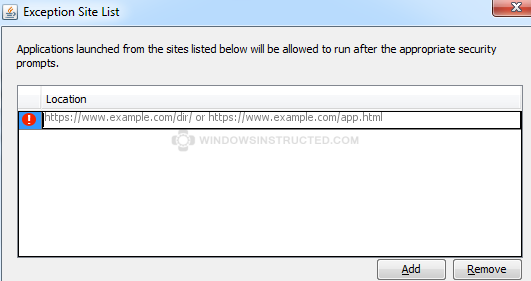 Java - Add Your security settings have blocked a local application from running Your security settings have blocked