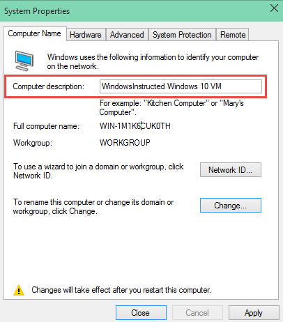 Computer Description How To Change the Computer Name in Windows 10 change the computer name in windows