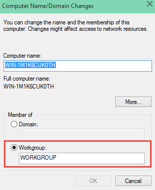 Change Workgroup Name
