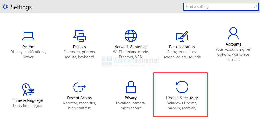 Windows 10: Update and Recovery