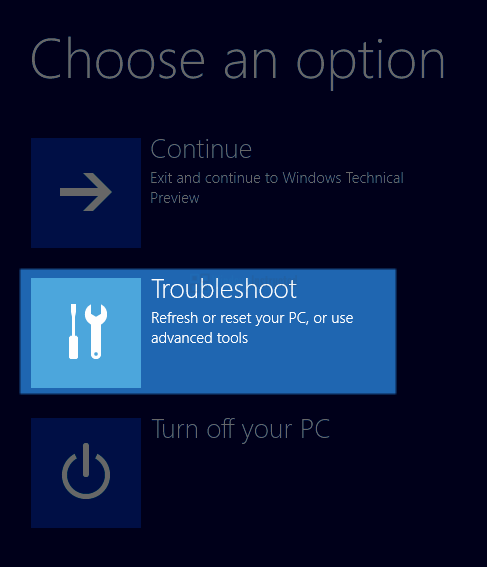 Windows 10 RE: Troubleshooting