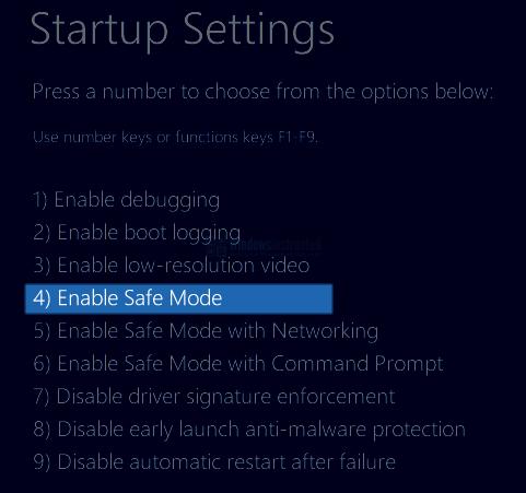 Windows 10: Enable Safe Mode