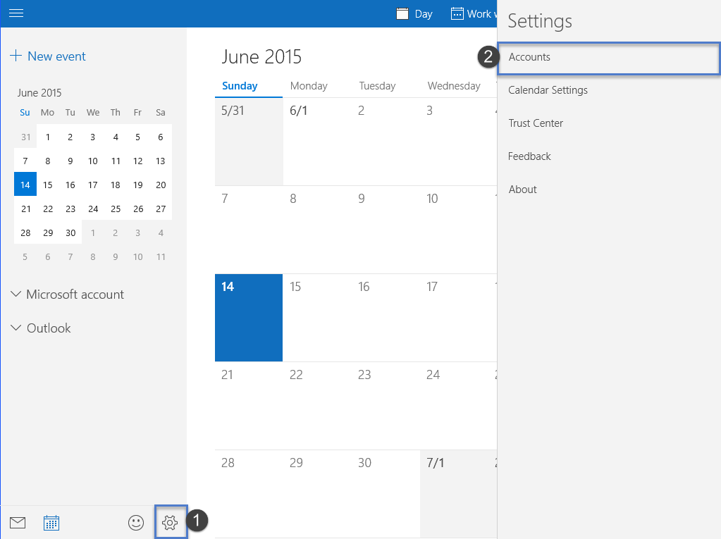 Windows 10: Add a Calendar