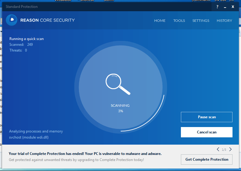 Reason Core Security: Scan