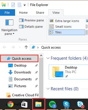 File Explorer -> Quick Access