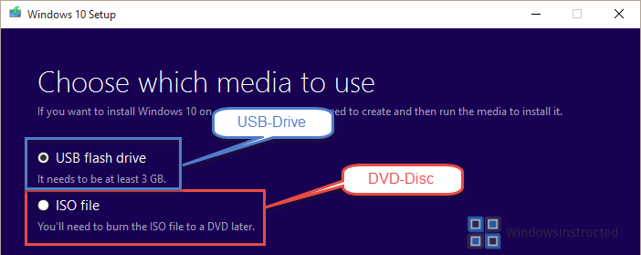 DVD-Disc or USB? How to get Windows 10 Installation Media for Free? installation media