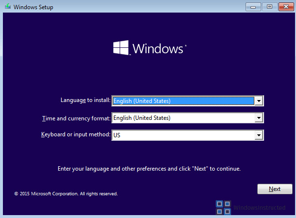 Choose Languages Windows 10 Does Not Boot! How do I repair the boot files? repair boot files