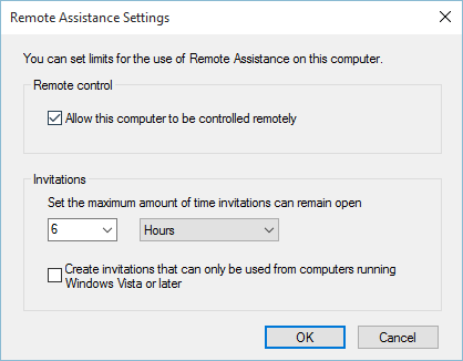 Remote Connection Settings