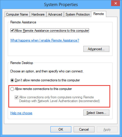 Enable Remote Access in Windows 10