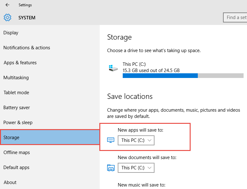 How to Save Windows Store Apps to External Storage in Windows 10