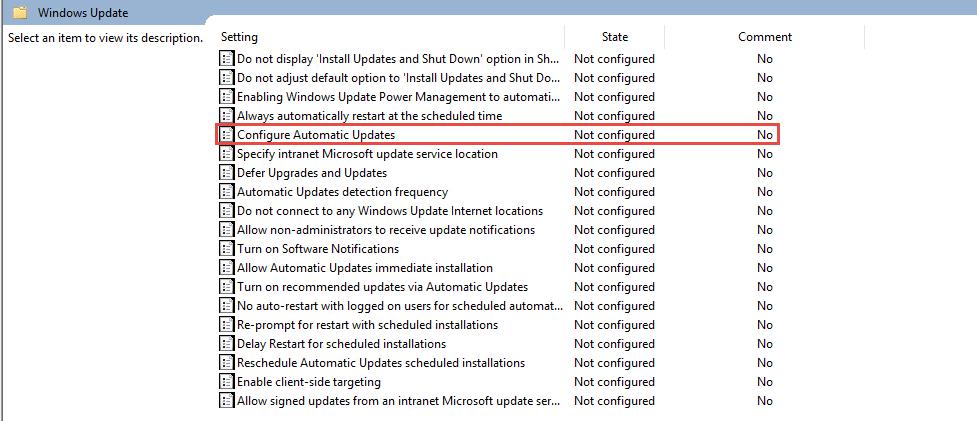 Configure Automatic Windows Update