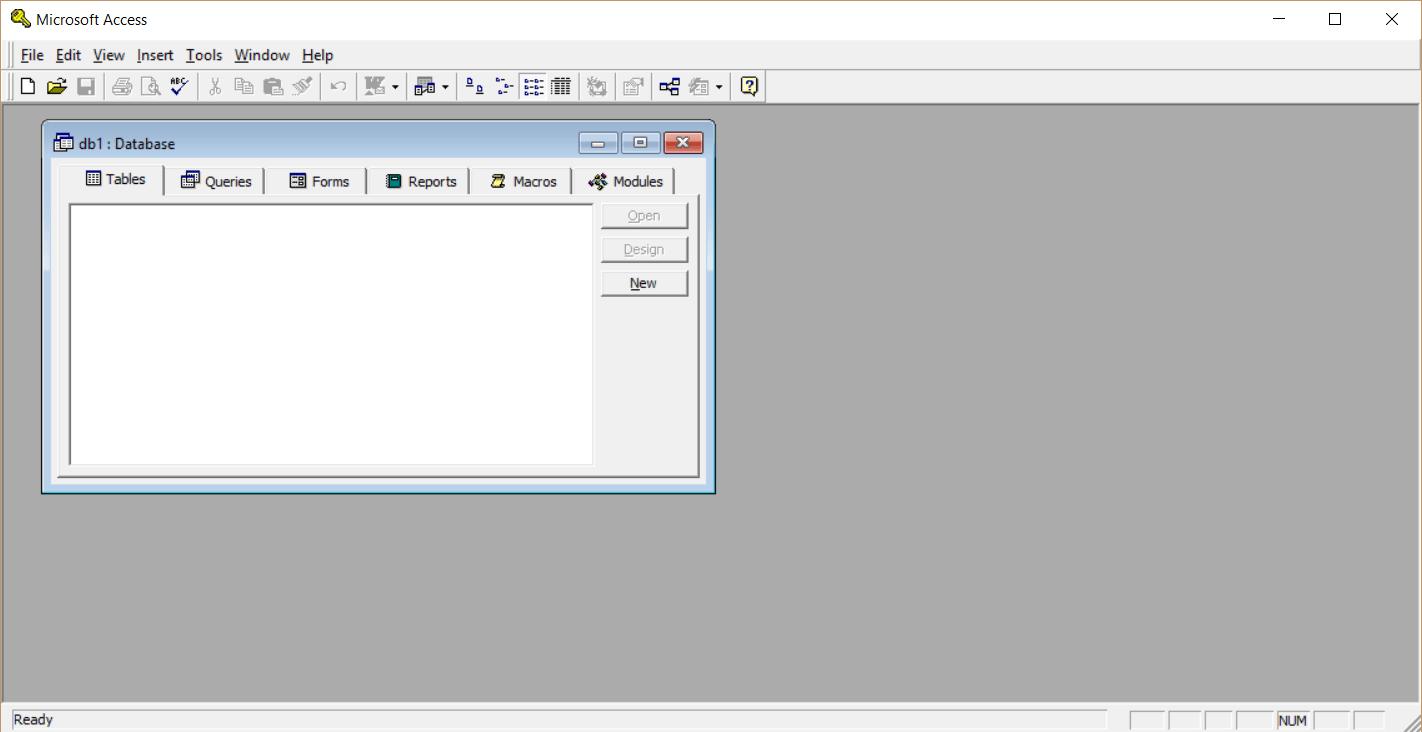 Microsoft Access 97