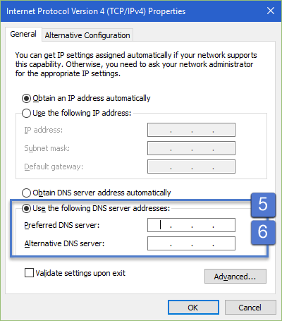 Windows 10: DNS Server Settings How to change DNS server address in Windows 10 and Windows 8? dns server address