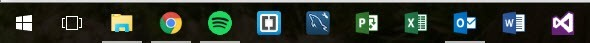 Normal Size Taskbar Icons
