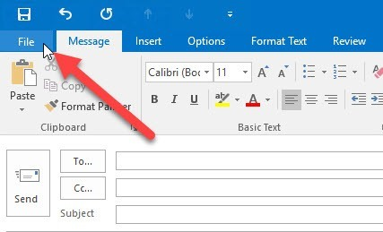 use template in outlook