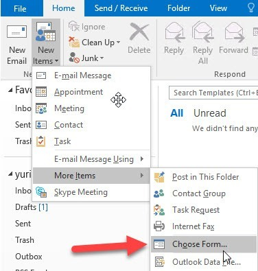 outlook mail templates