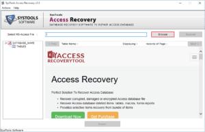 browse corrupt MDB file