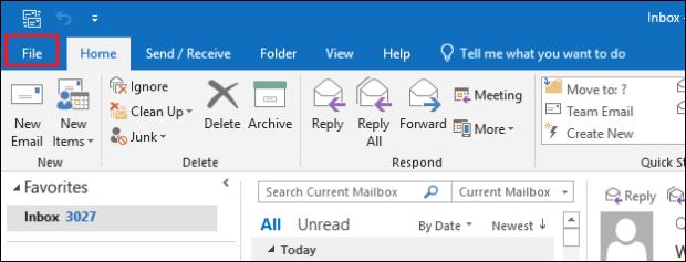 Open File tab